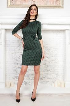 Платье футляр зеленого цвета Angela Ricci со скидкой
