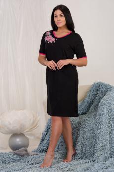 Свободная черная ночная сорочка Натали