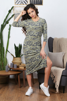 Платье в стиле милитари Красная Ветка